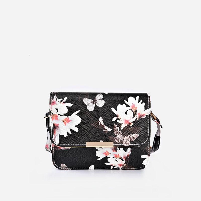 sac-besace-bandouliere-femme-cuir-noir-fleurs