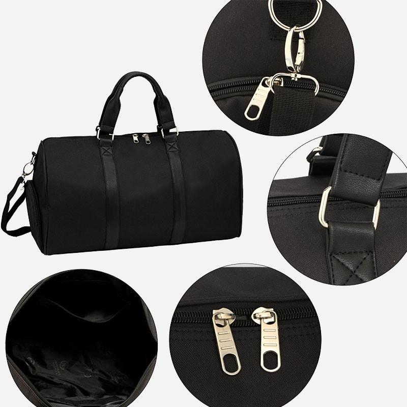sac-weekend-24h-toile-cuir-noir-details