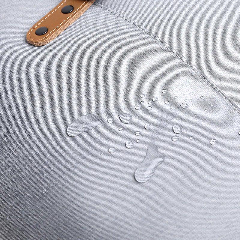 Détails waterproof de la toile de la sacoche en toile pour homme.