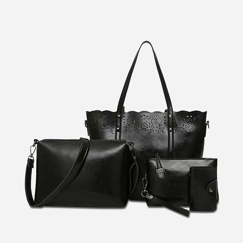 set de sacs cuir pour femme avec petite maroquinerie. Black Bedroom Furniture Sets. Home Design Ideas