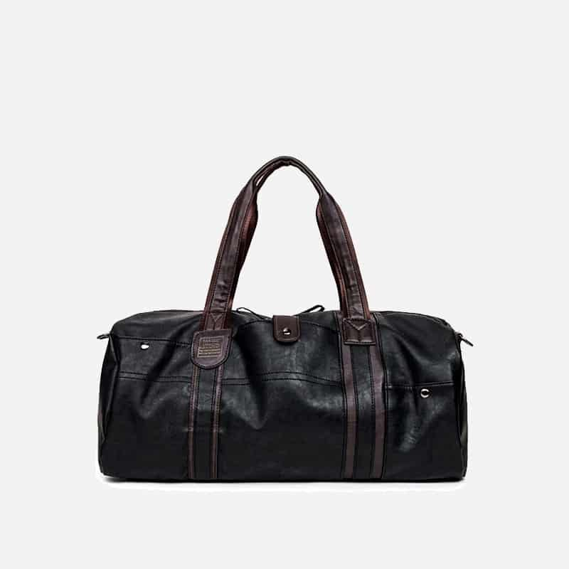 Sac à bandoulière et sac à main en cuir noir pour homme avec plusieurs poches zippées et poches intérieures. Magicbag Classic. Sac sans la bandoulière..