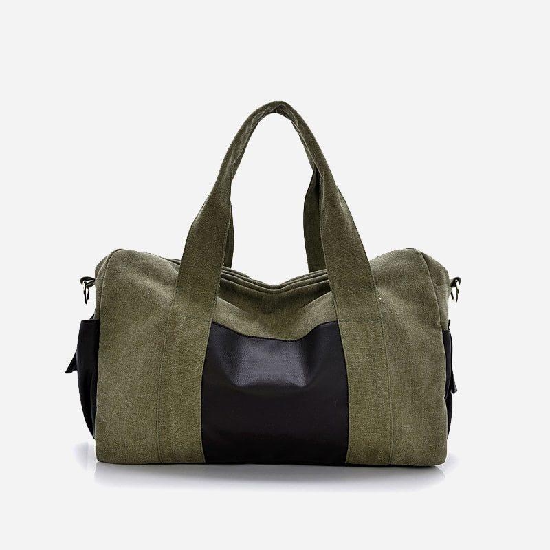Sac bandoulière homme. et sac à main bi-ton vert militaire (army green). Manjian.