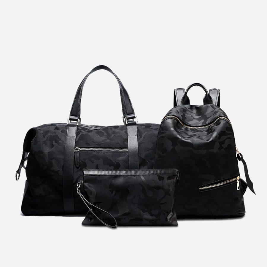sac-voyage-sac-a-dos-pochette-camouflage-noir-homme