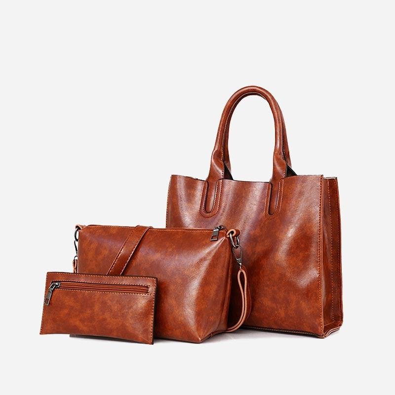 set-sac-a-main-sac-bandouliere-pochette-femme-cuir-marron