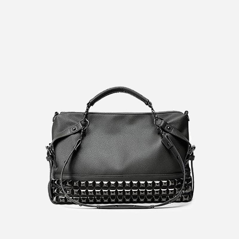 sac main clout en cuir pour femme sac bandouli re. Black Bedroom Furniture Sets. Home Design Ideas