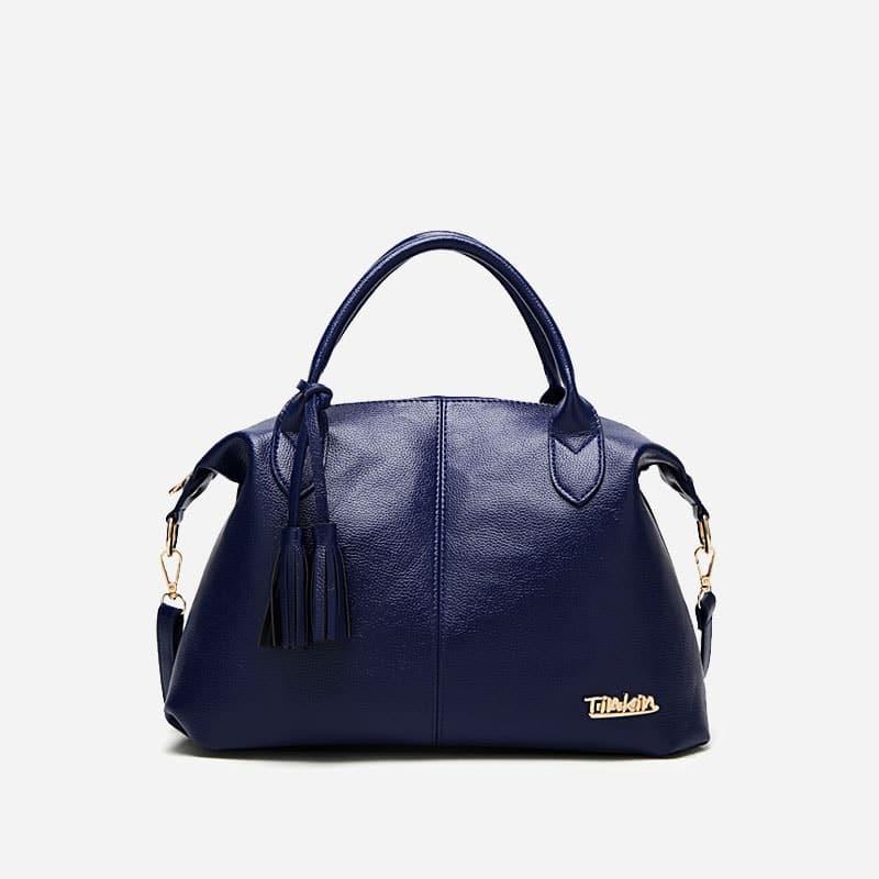 sac-bandouliere-cabas-cuir-bleu-pompon