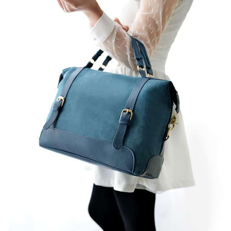 sac-cabas-cuir-nubuck-suedine-bleu-pour-femme