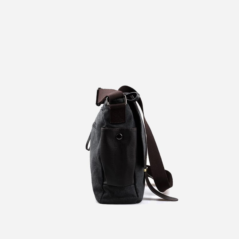 sac-besace-bandouliere-toile-cuir-noir-cote