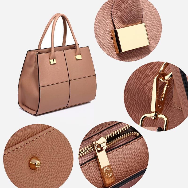 7ac096e56a ... sac-cabas-femme-cuir-nude-details-2 ...