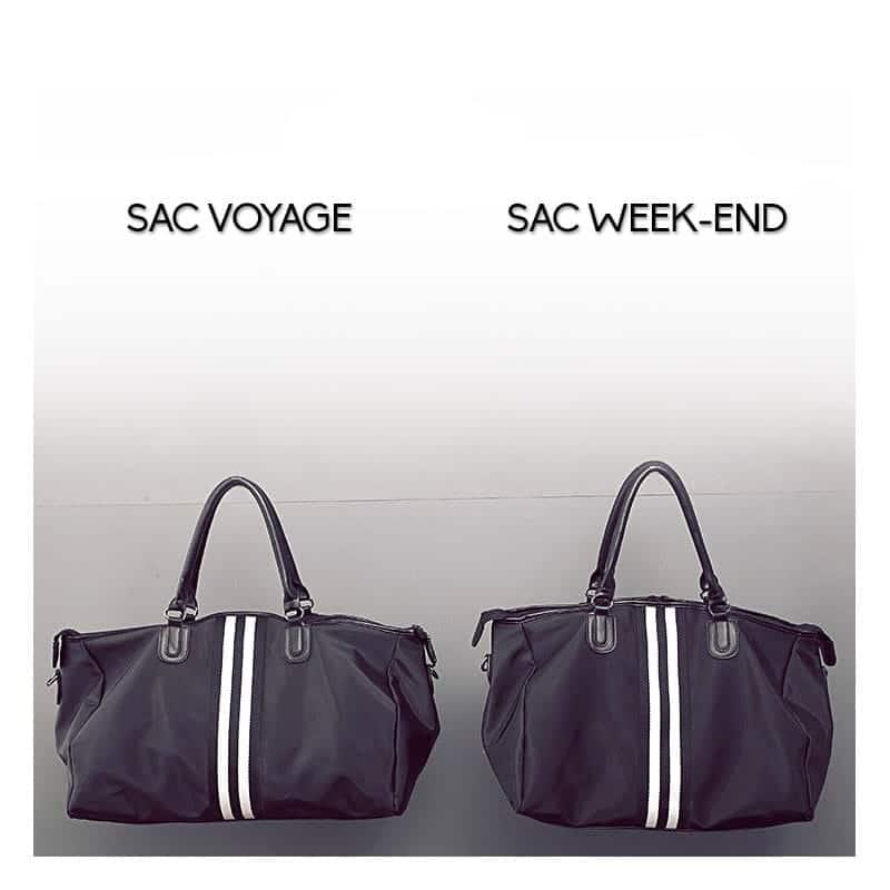 sac voyage 48h noir et sac weekend sac bandouli re. Black Bedroom Furniture Sets. Home Design Ideas