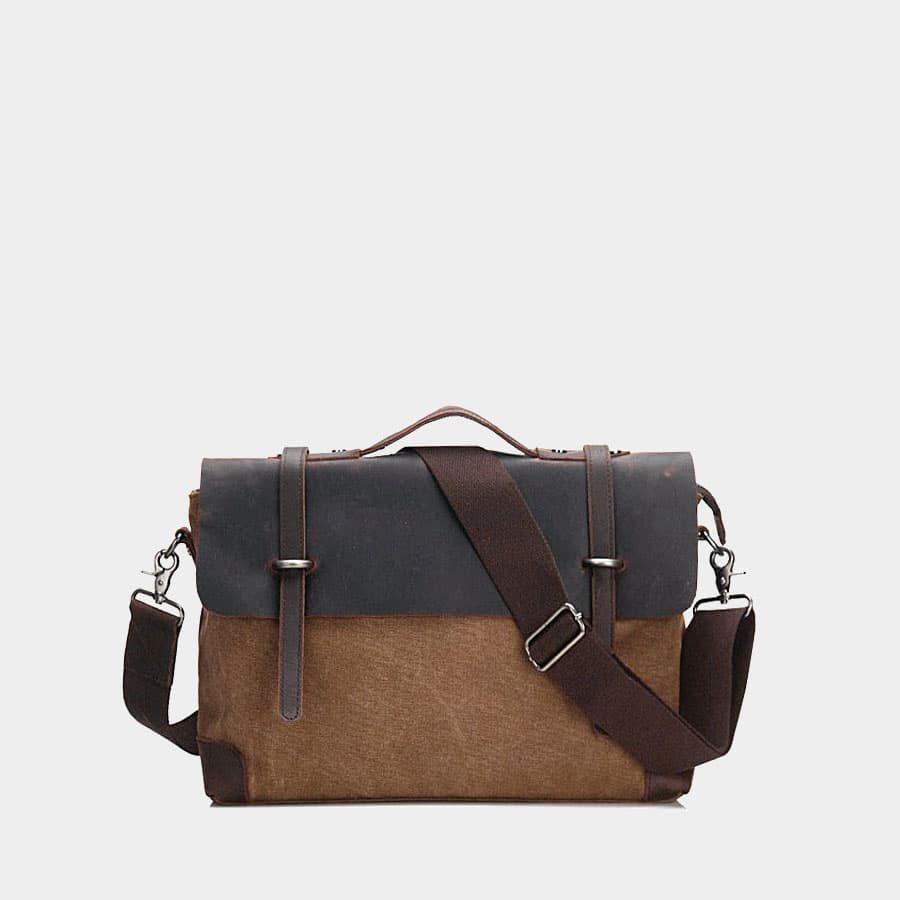 sacoche-besace-toile-cuir-veritable-marron-brun