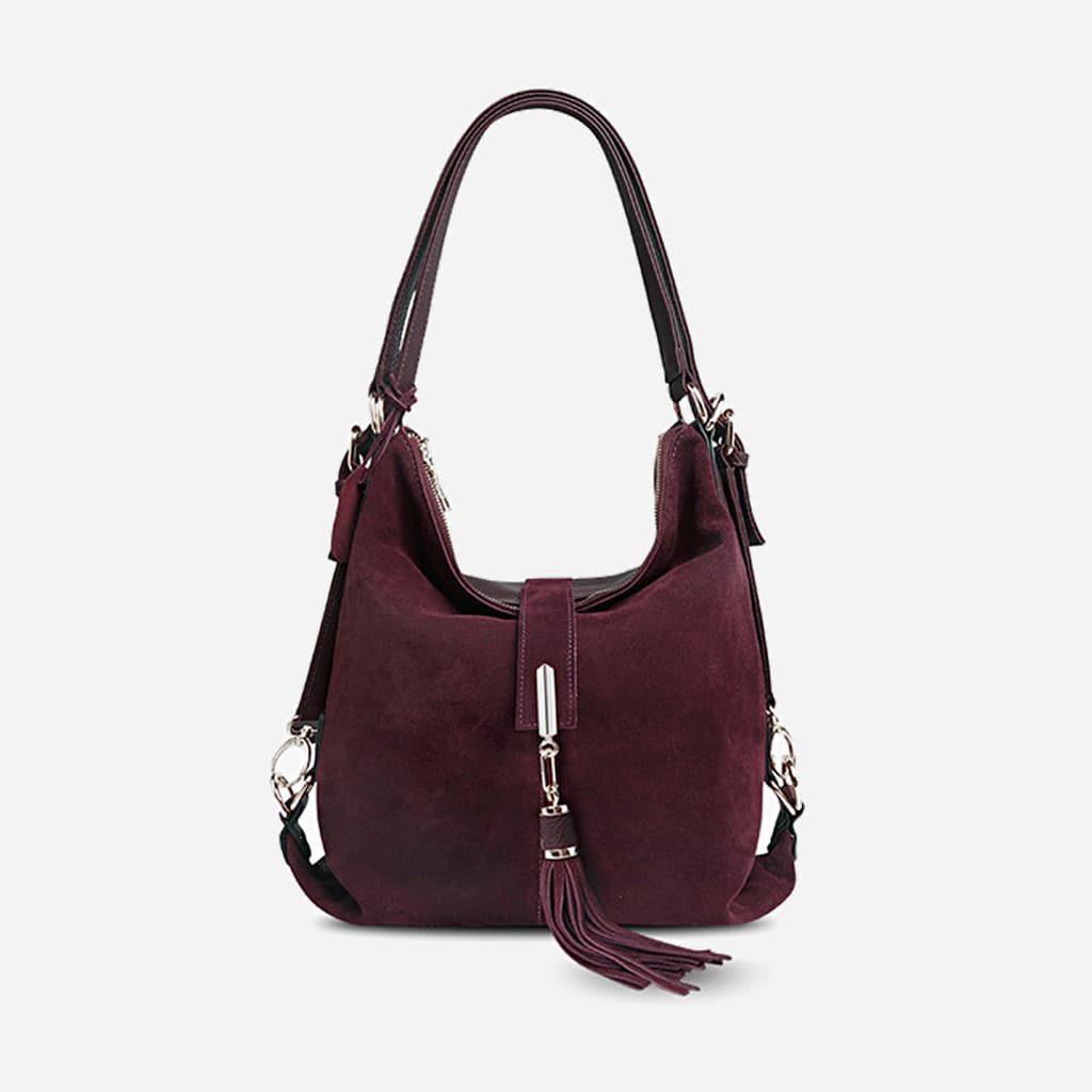 sac-a-main-femme-cuir-veritable-nubuck-suedine-violet-fonce