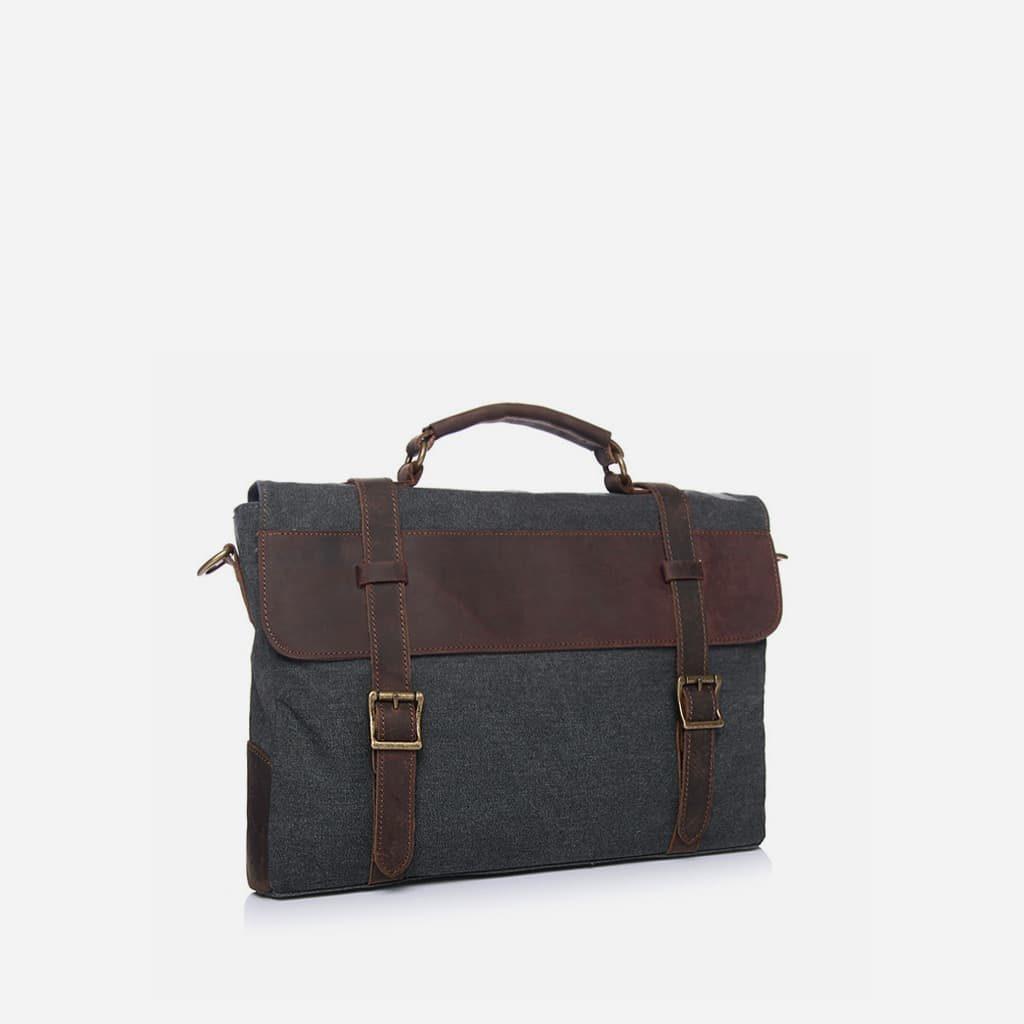 sacoche-besace-home-toile-cuir-veritable-gris-fonce-brun
