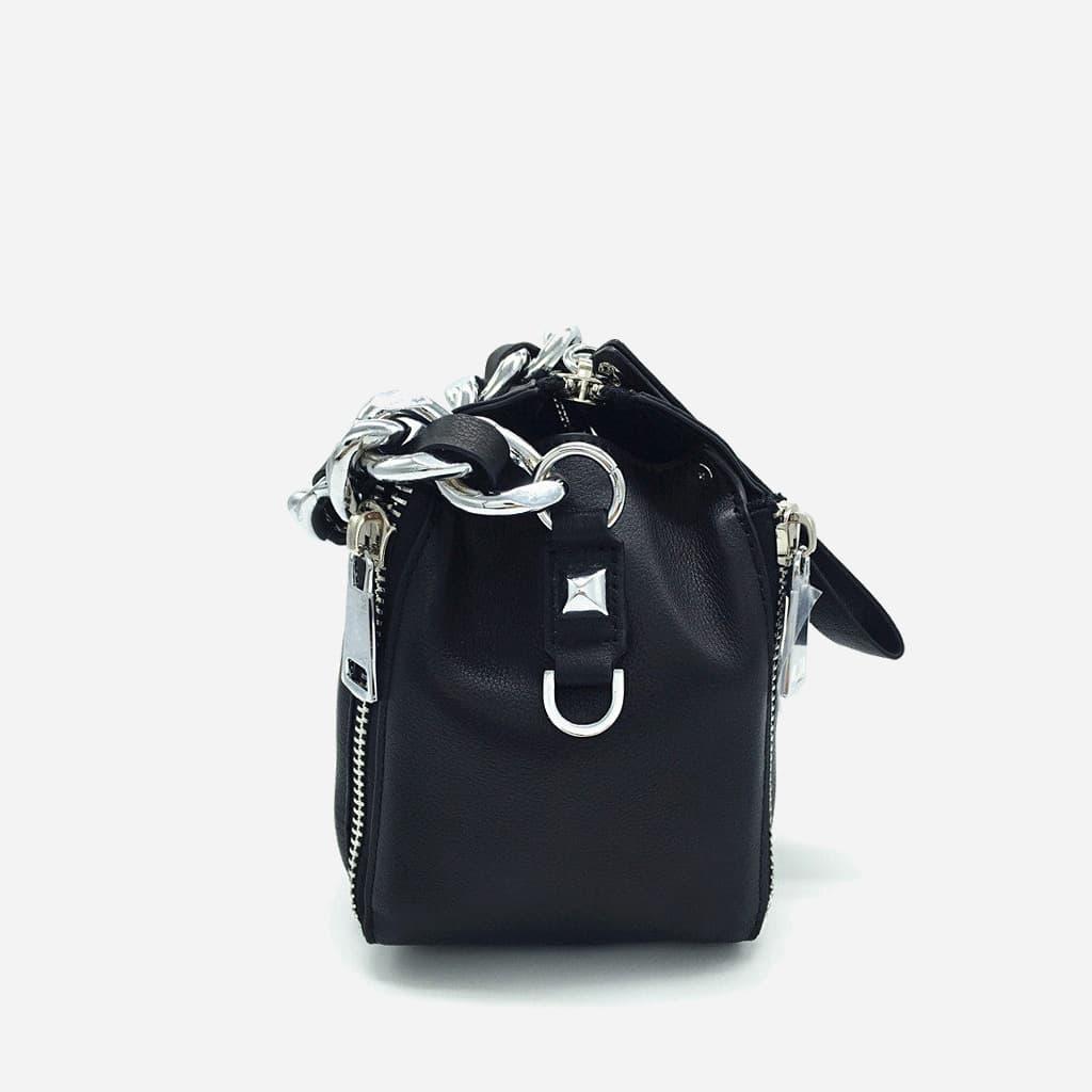 sac-main-chaine-cuir-veritable-noir-cote