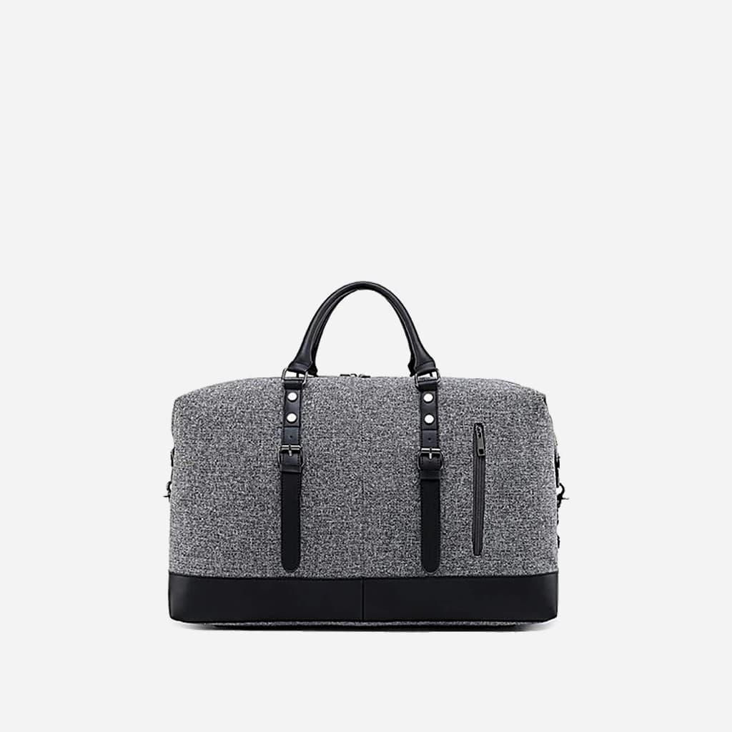 sac-voyage-toile-cuir-homme-femme-gris-noir