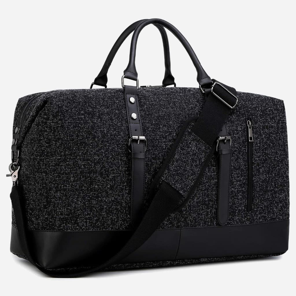 details-sac-voyage-toile-cuir-homme-femme-noir-bandouliere-15761