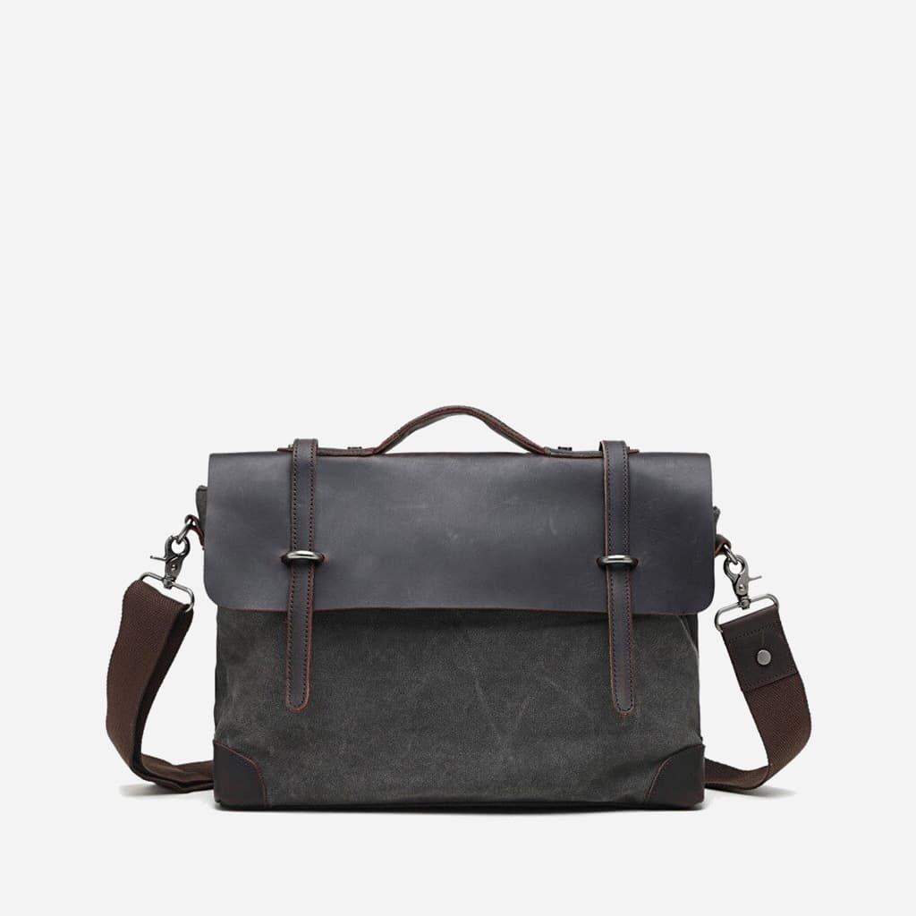 sacoche-besace-toile-cuir-veritable-gris-fonce-ardoise-S15445