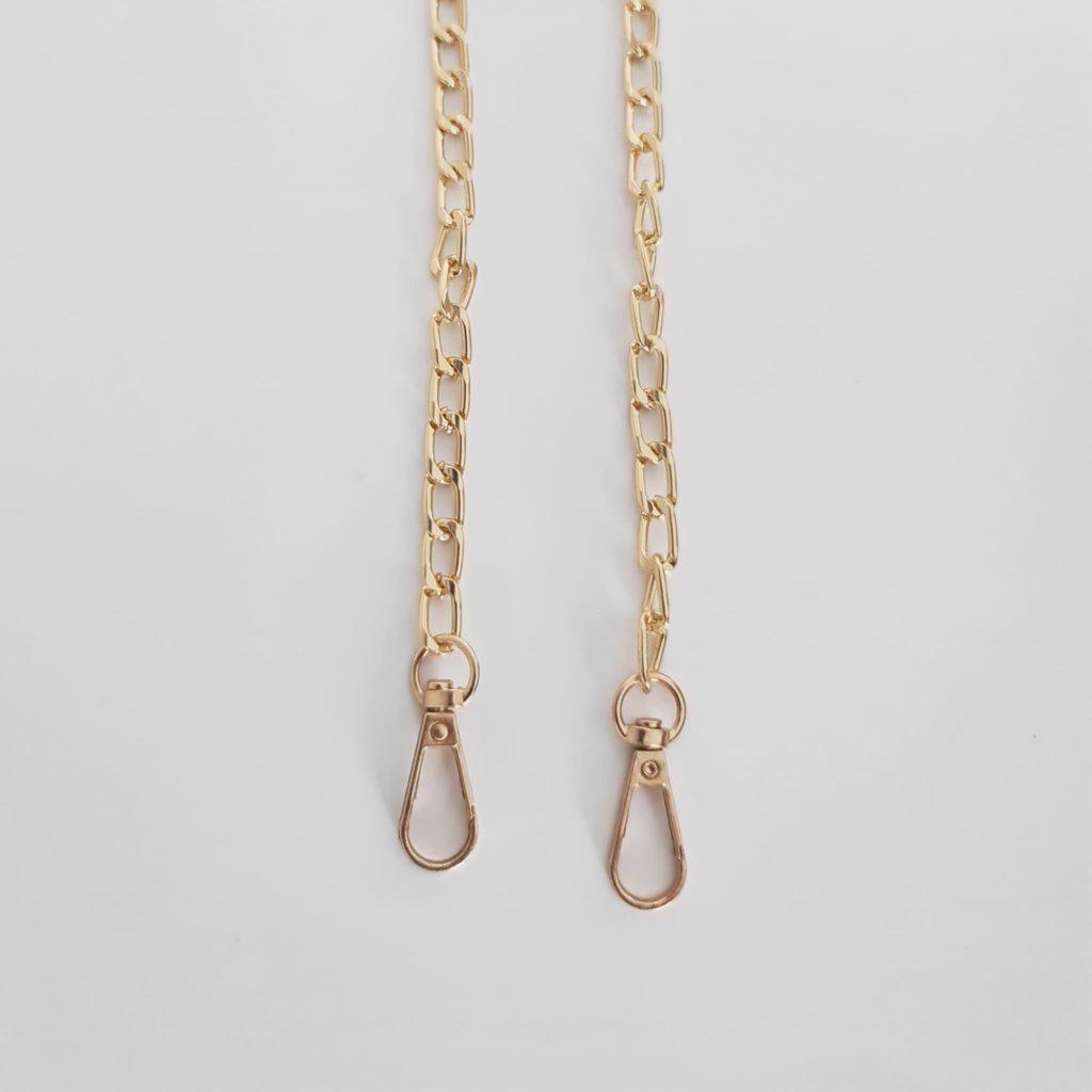 Bandoulière à chaine dorée amovible et mousqueton or