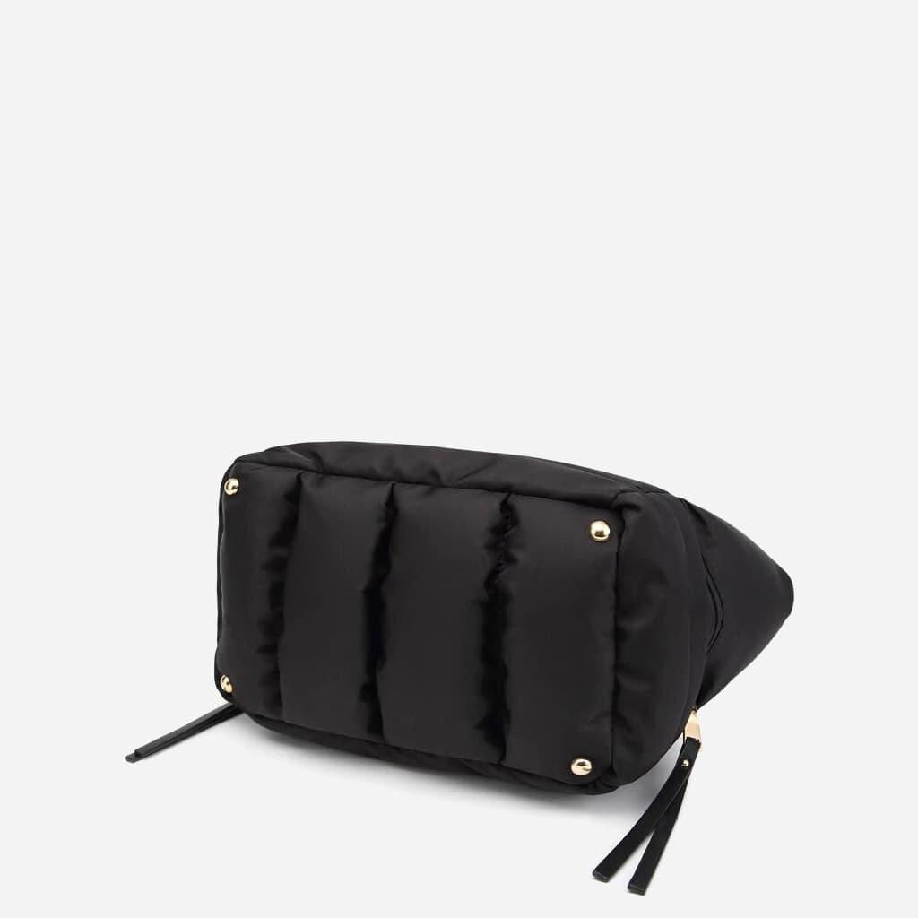 Dessous du sac à main cabas rembourré coton noir
