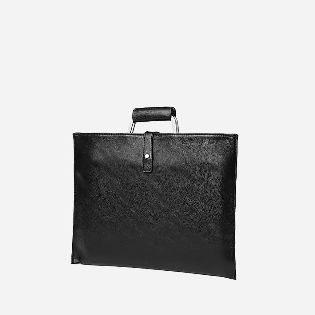 Porte-document sacoche cuir noir homme.